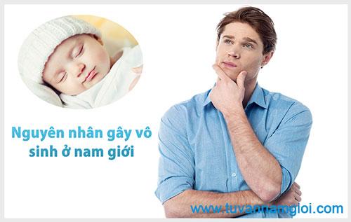 Nguyên nhân gây vô sinh ở nam giới