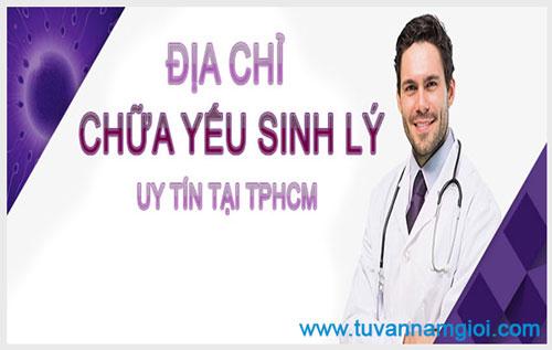 Yếu sinh lý nam giới điều trị ở bệnh viện nào ở tphcm